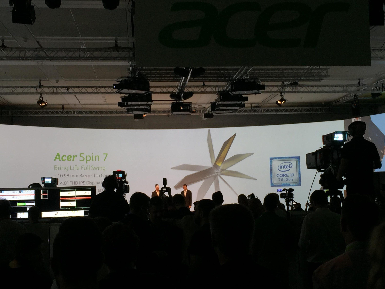Bild von IFA: Acer Spin 7 vorgestellt – dünnstes Convertible mit neuem Intel Prozessor