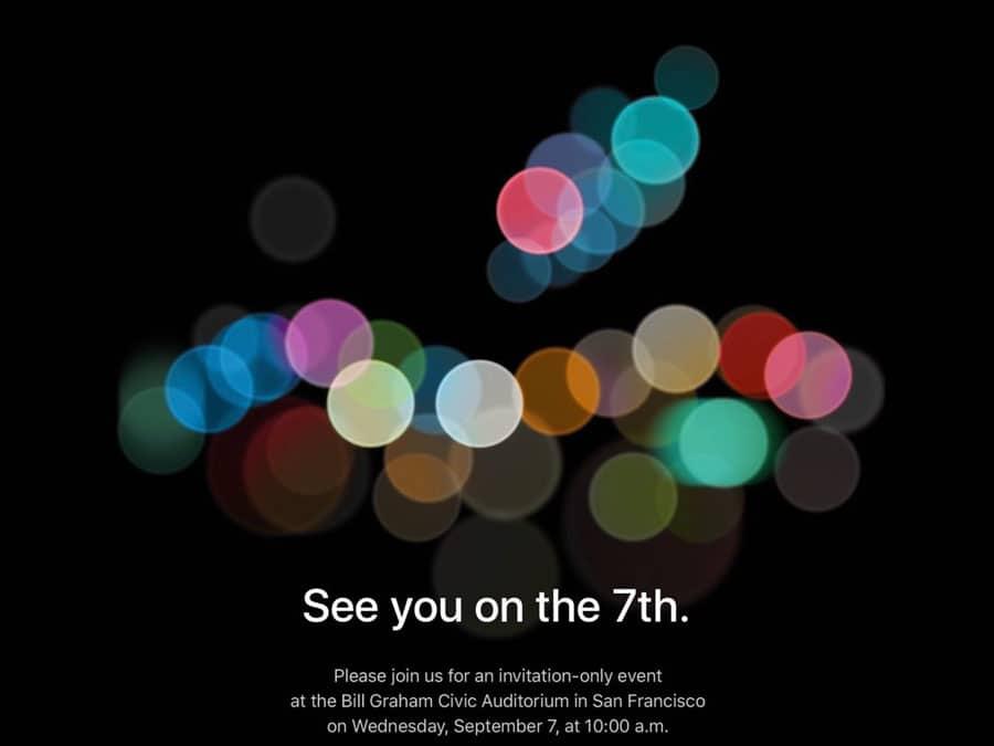 Bild von Apple Keynote am 7. September