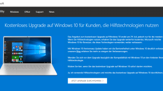 windows 10 hilfstechnologien 320x180 - Windows 10 - Upgrade noch nach der Deadline