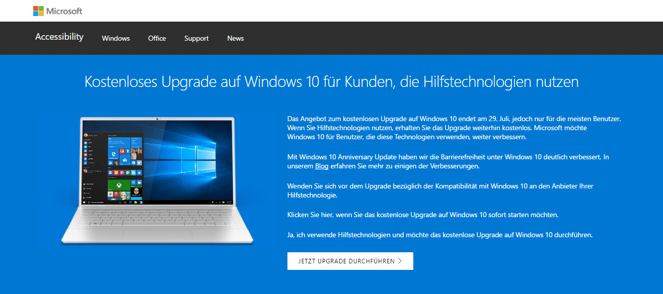 Photo of Windows 10 – Upgrade noch nach der Deadline