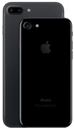 Das IPhone 7 und das IPhone 7 plus auf weißem Grund