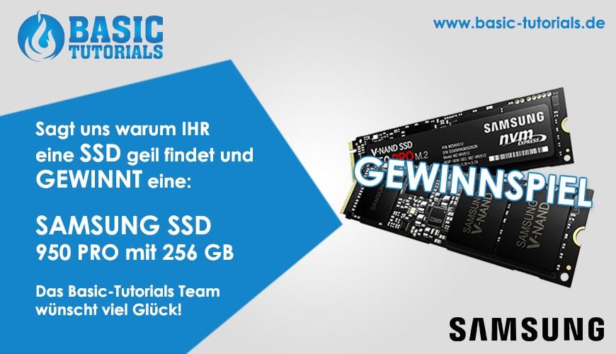 Photo of Gewinnspiel: Samsung SSD 950 Pro 256 GB