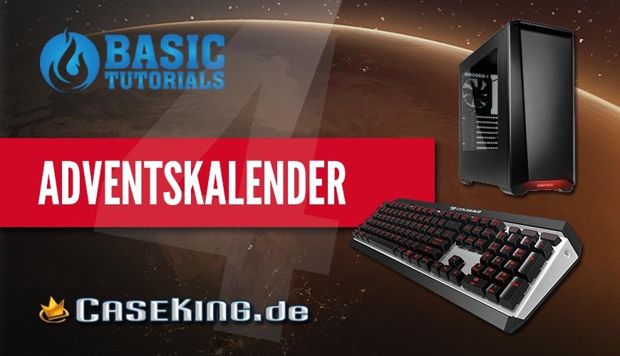 Bild von Adventskalender Türchen 4: Cougar Tastatur & Phanteks Gehäuse