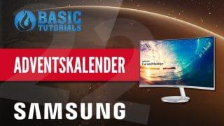 samsung display adventskalender 320x180 - Adventskalender Türchen 22: Samsung Curved Monitor C27F591FDU LED
