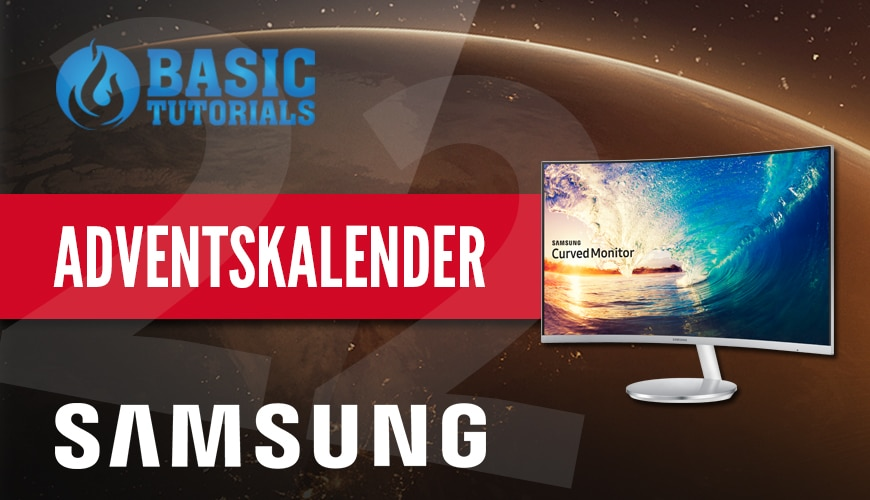 Bild von Adventskalender Türchen 22: Samsung Curved Monitor C27F591FDU LED