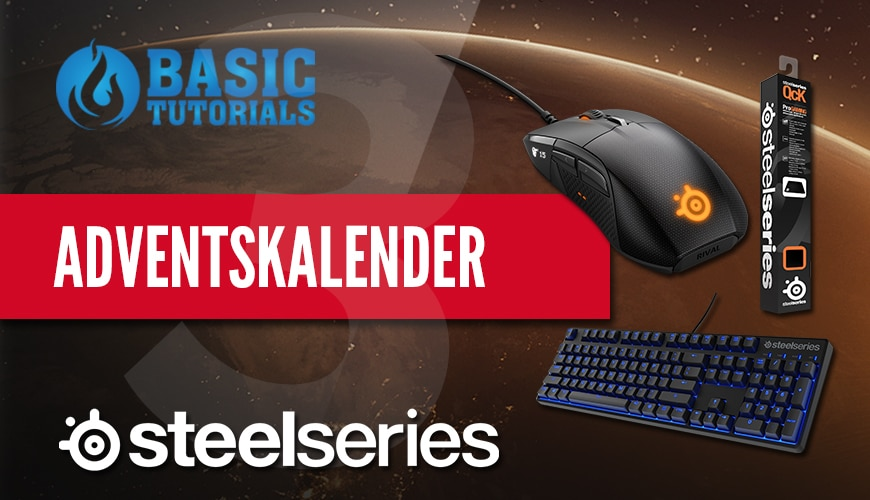 Photo of Adventskalender Türchen 3: SteelSeries Tastatur, Maus & Mauspad