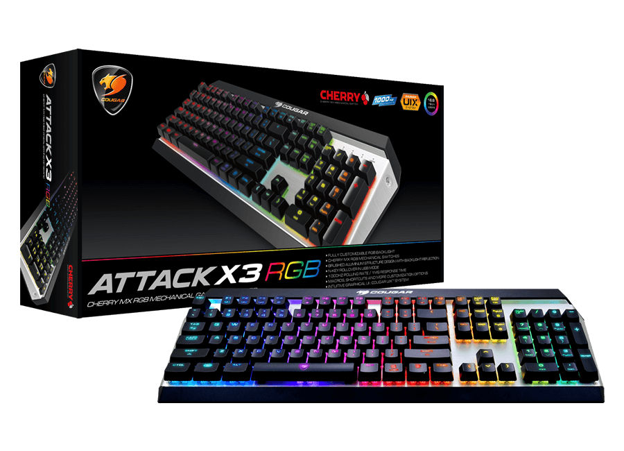 Bild von Mechanische Tastatur Cougar Attack X3 RGB im Test