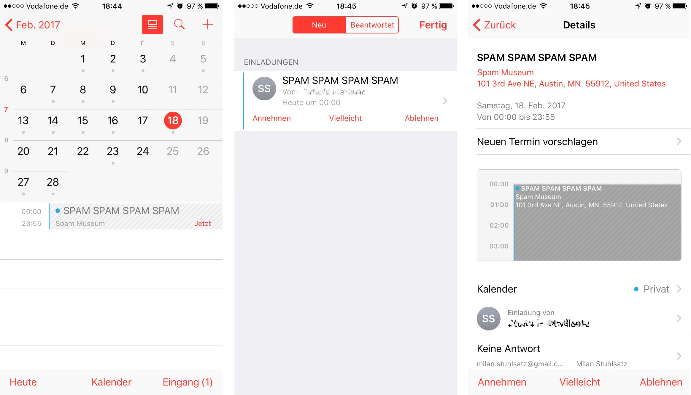 Bild von Was tun gegen Spam im iCloud Kalender