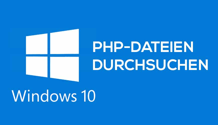 Bild von PHP-Dateien mit Windows-Suche durchsuchen