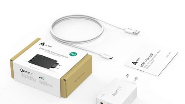 Aukey Ladegeraet 640x360 - Amazon: 3-Port-USB-Ladegerät von Aukey mit Quick Charge 2.0 für 5,99 €