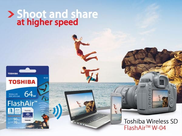 Photo of Toshiba FlashAir: Speicherkarte mit WLAN geht in die vierte Generation