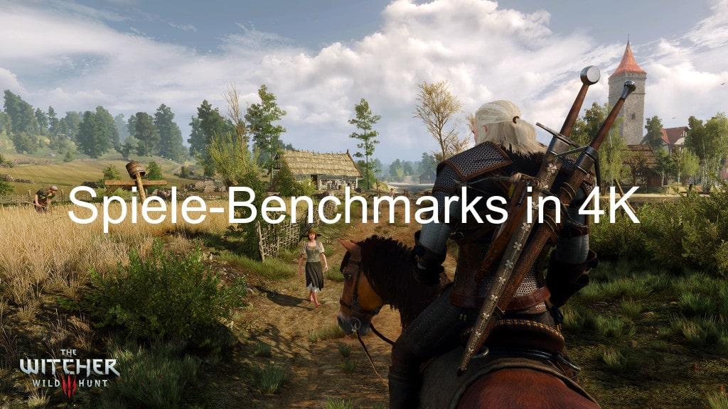 Spiele-Benchmarks in 4K mit maximaler Grafikqualität (3840 x 2160 Pixel