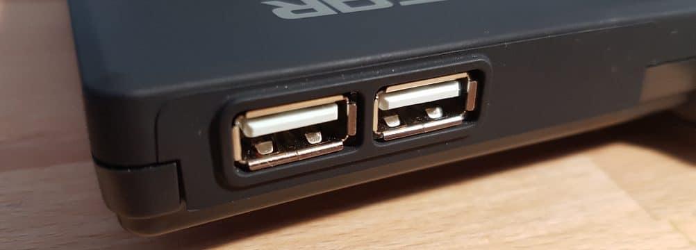 Der USB-Hub der Rush G1 Silent