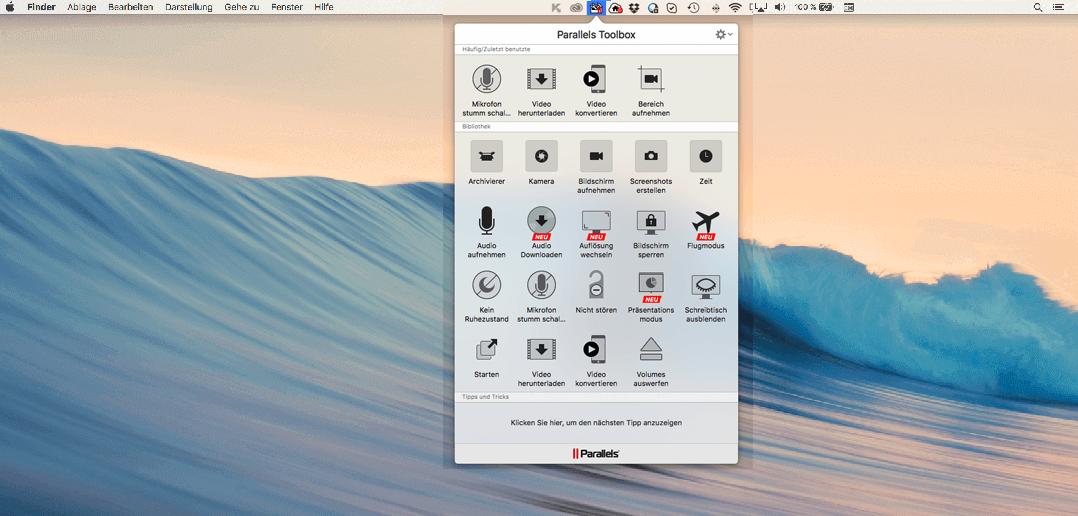 Bild von Parallels Toolbox für Mac 1.7 bringt praktische Neuerungen mit sich