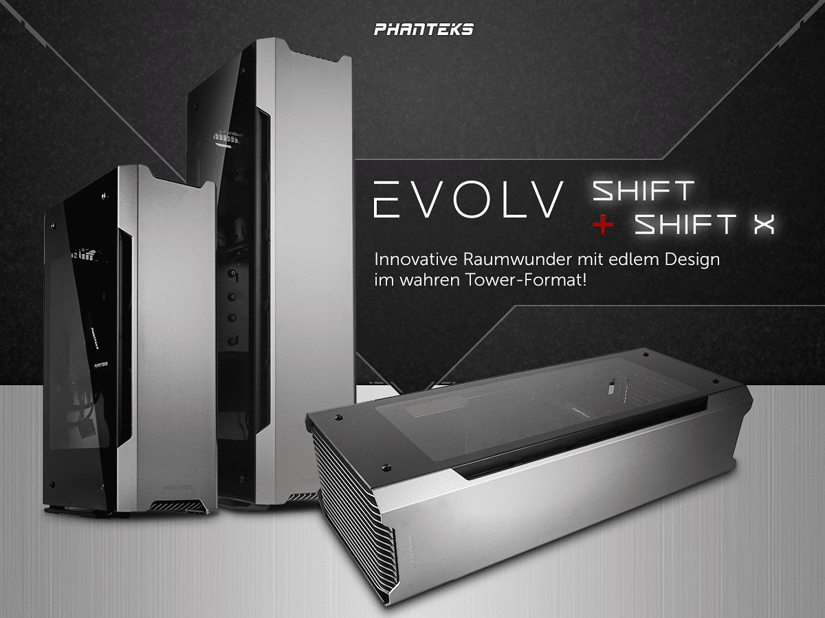 Photo of Phanteks Evolv Shift und Shift X – Zwei Designer-Gehäuse