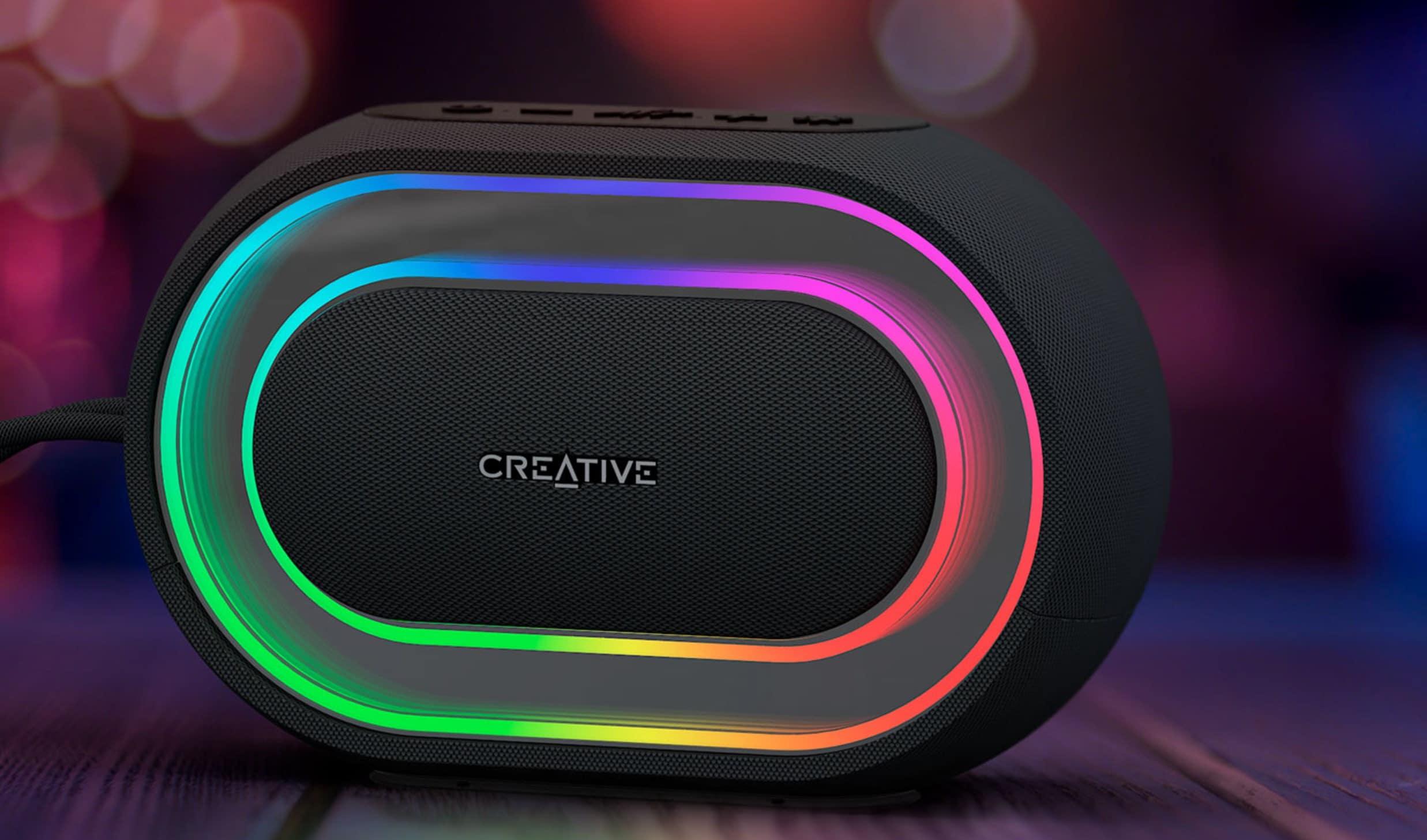 Bild von Creative Halo: Bluetooth-Lautsprecher mit schicker RGB-Beleuchtung