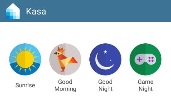 Widget der Kasa-App mit Szenen