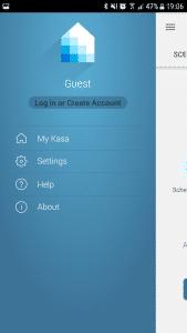 Navigation der Kasa-App