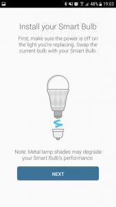 Installation der smarten Glühbirne