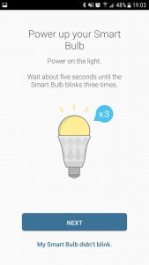 Starten der smarten Glühbirne