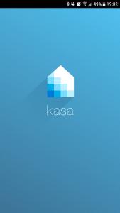 Startbildschirm der Kasa-App