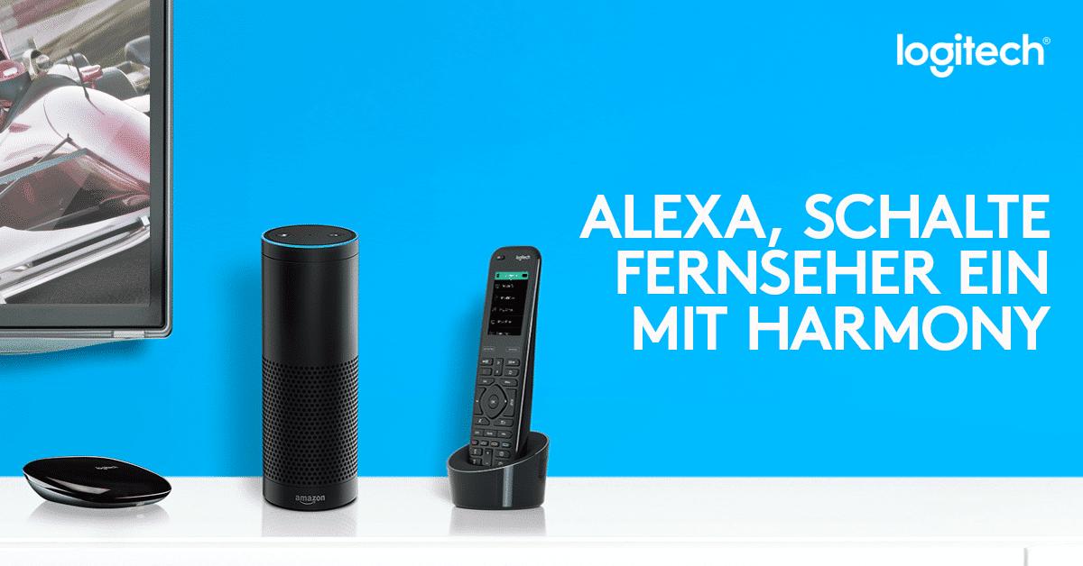 Photo of Amazon Alexa nun in Logitech Harmony integriert