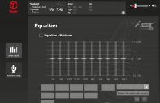 Teufel Audio Center: Equalizer