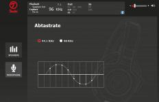 Teufel Audio Center: Abtastrate