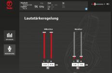 Teufel Audio Center: Lautstärkeregelung
