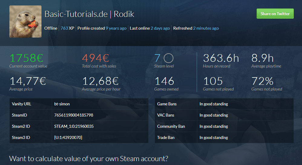 Photo of So viel ist dein Steam-Account wert