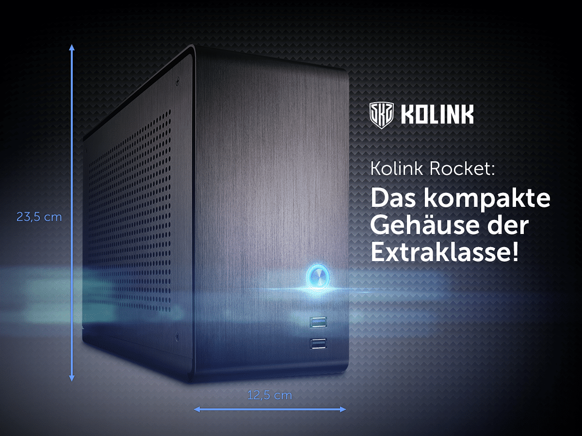 Photo of Kolink Rocket: Kompaktes Gehäuse mit 9,6 Litern Volumen