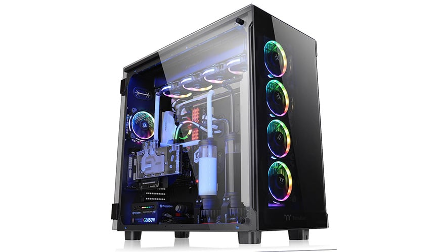 Bild von Thermaltake View 91: Riesiger Big-Tower mit Tempered Glass vorgestellt