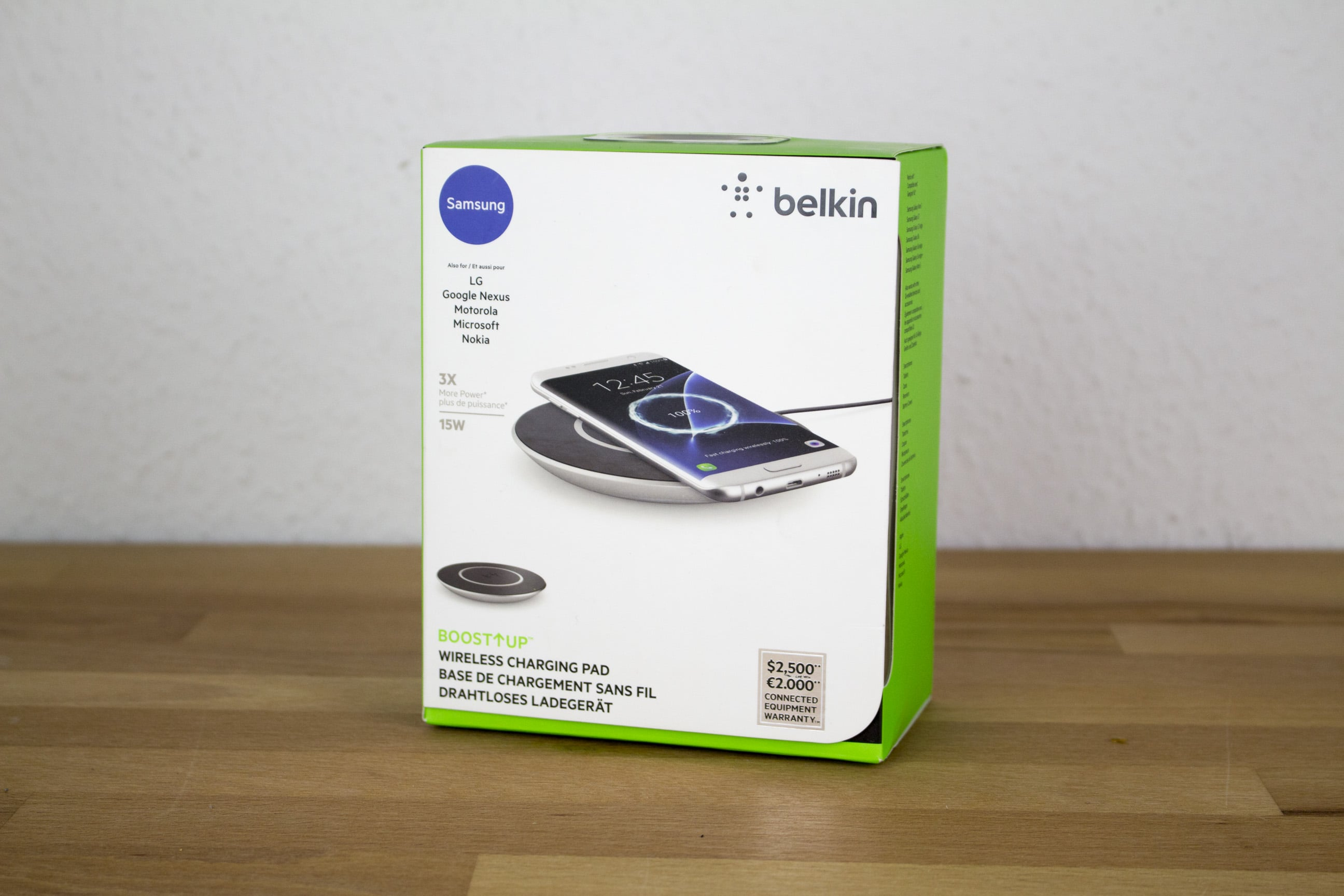 belkin boost up wireless charging pad f r samsung im test. Black Bedroom Furniture Sets. Home Design Ideas