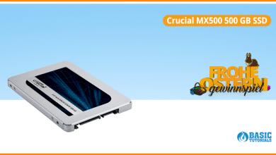 Bild von Schnelle SSD im Ostergewinnspiel: Die Crucial MX500 mit 500 GB
