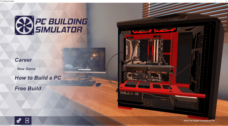PC Building Simulator - Main Menu