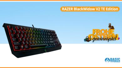 Bild von Gaming-Tastatur im Ostergewinnspiel: Die Razer BlackWidow V2 TE Edition
