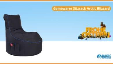 """Bild von Gewinnspiel: Bequemer Zocken durch den Gamewarez Gaming-Sitzsack """"Arctic Blizzard"""""""