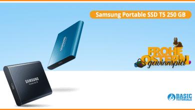 Photo of Schnelle SSD für unterwegs – Samsung Portable SSD T5 Gewinnspiel