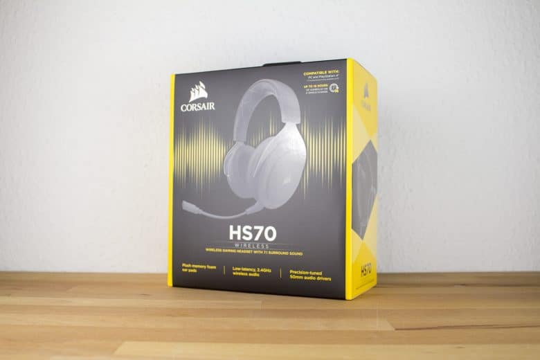 corsair hs70 kabelloses gaming headset f r pc ps4 im test. Black Bedroom Furniture Sets. Home Design Ideas