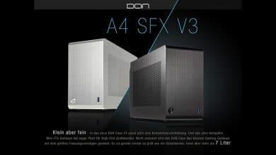 Bild von DAN Cases A4-SFX V3 Mini-ITX-Gehäuse für ultrakompakte Gaming-Systeme