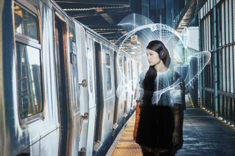 Portraitshot subway woman