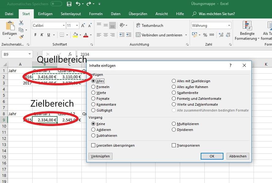 Daten Verknüpfen Und übertragen In Microsoft Excel