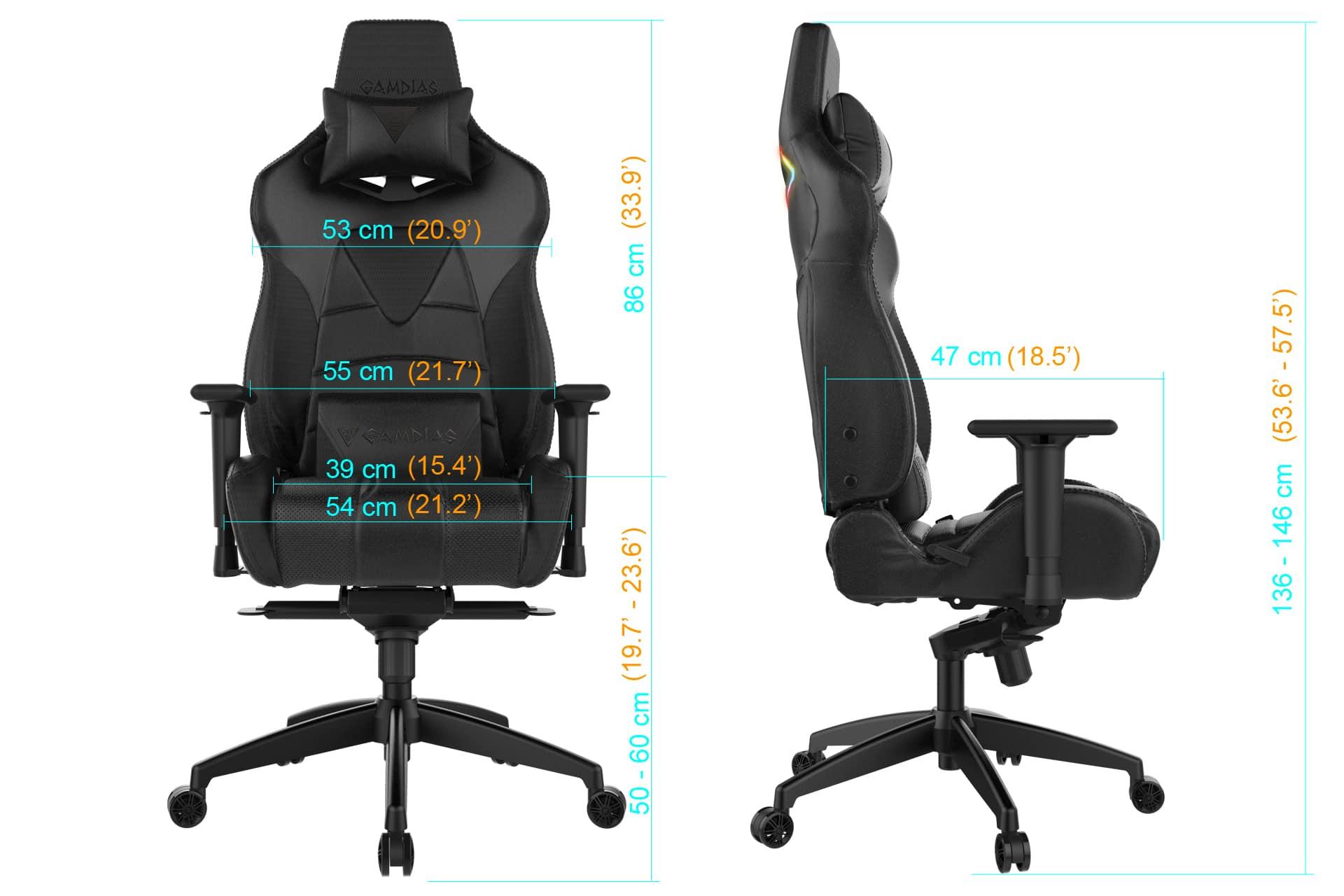 gamdias achilles m1 l gaming stuhl mit rgb beleuchtung im test. Black Bedroom Furniture Sets. Home Design Ideas