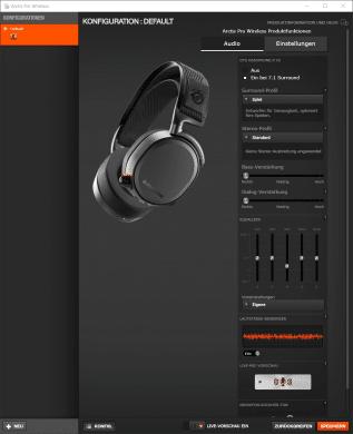 Arctis Pro Wireless Audioeinstellungen