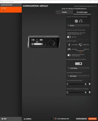 Arctis Pro Wireless Einstellungen