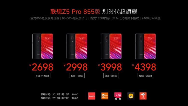 Lenovo stellt Z5 Pro GT vor