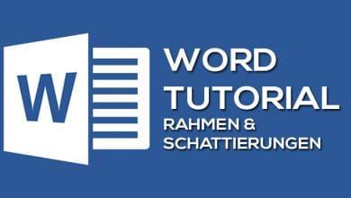 Photo of Rahmen und Schattierung in Microsoft Word formatieren