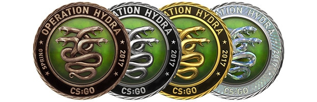 Operation Hydra Bronze, Silber, Gold & Diamant