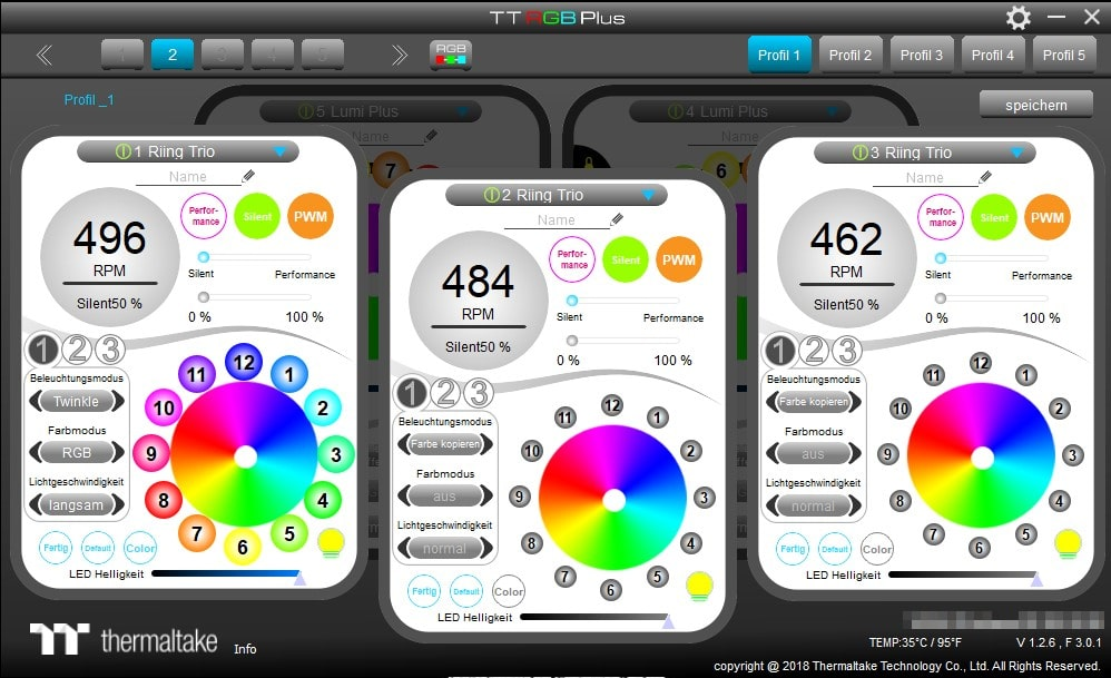 Thermaltake Riing Trio RGB Review - Does the Form Follow the