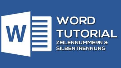 Photo of Zeilennummern und Silbentrennung in Microsoft Word